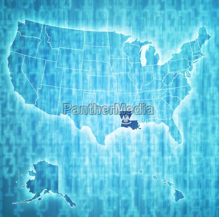 louisiana on map of usa