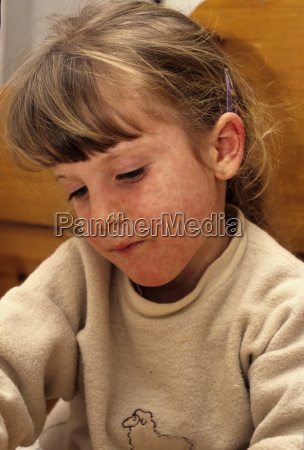 child with a texture