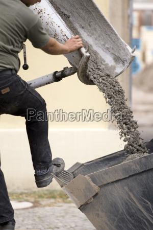 men man craftsman tradesman handicraftsman concrete