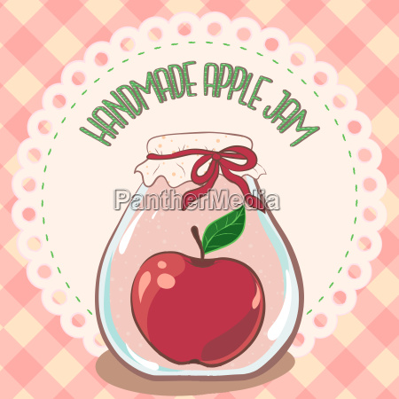 apple jam label printable jar label