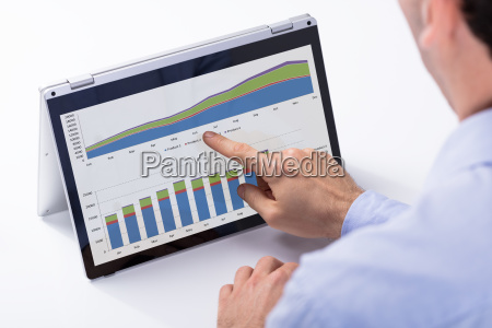 businessman analyzing the chart on the