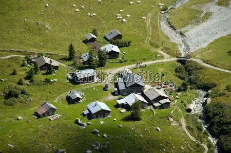 house building houses alps alp europe