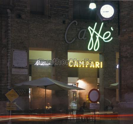 cafe at night night photograph quadratic