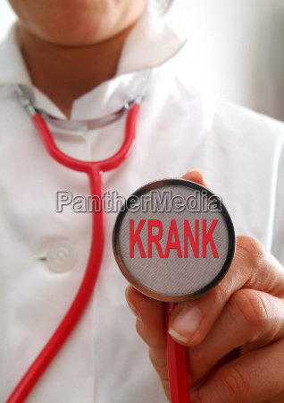 symbol picture sick doctor with stethoscope