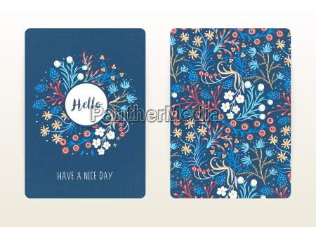 cover design with floral pattern hand