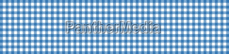 banner tablecloth blue white