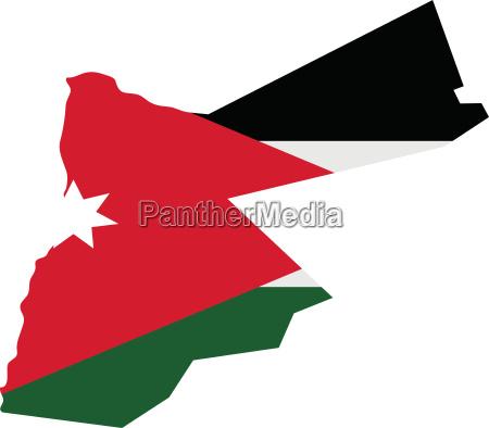 jordan map with flag