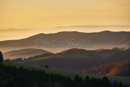 panorama vosges rhine valley black forest