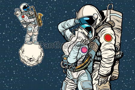 cosmonauts are dancing romantic date man