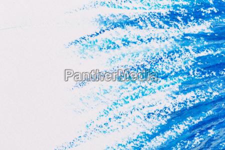 crayons blue frame