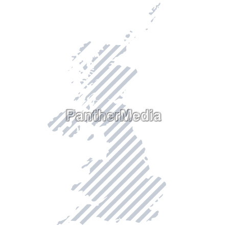 map of great britain in stripes