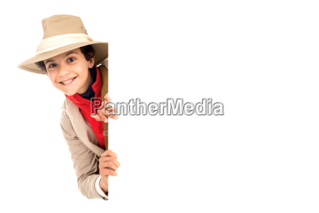 boy in safari clothes