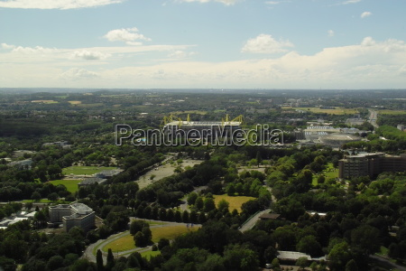 panoramic view over dortmund and the