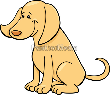 cute happy dog cartoon character