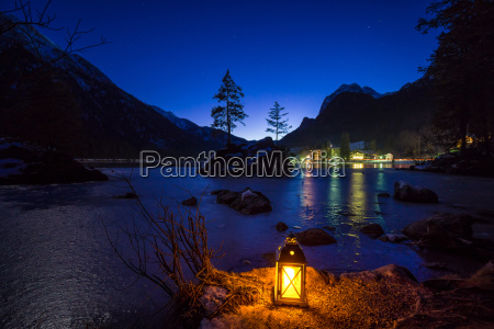 evening at the hintersee bavaria germany
