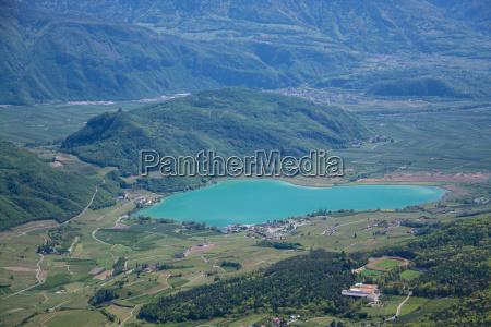 lake kaltern south tyrol italy
