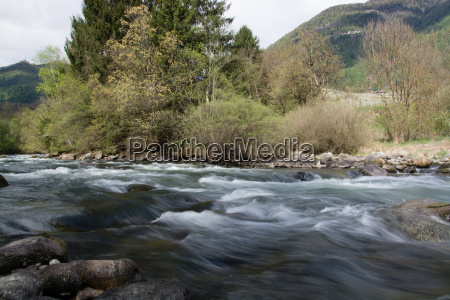 river noce in south tyrol italy