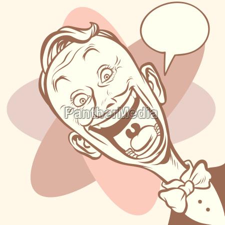 elegant joyful retro businessman