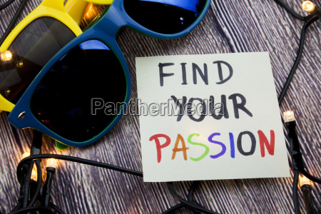 follow your passion on sticky note