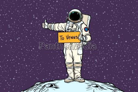 astronaut hitch rides on venus