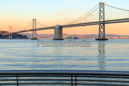 san francisco bay bridge and pier