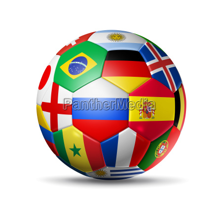 russia 2018 football soccer ball with
