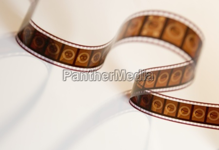strip of movie film from above
