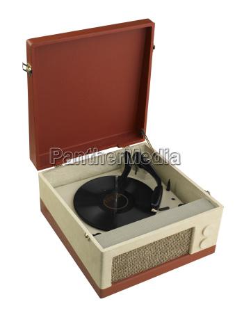 still life of record player
