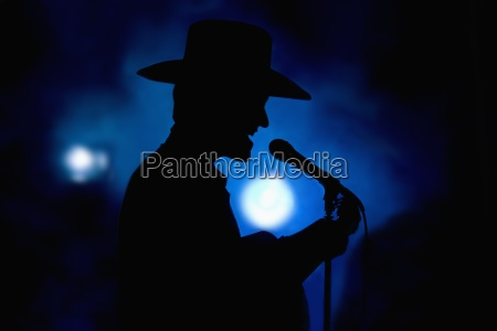 country singer on stage