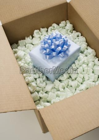 still life of box of styrofoam