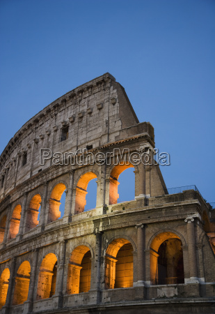 the colosseum at night italy
