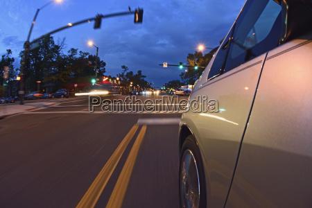 usa colorado denver car on city