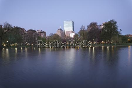 massachusetts boston copley square at dawn
