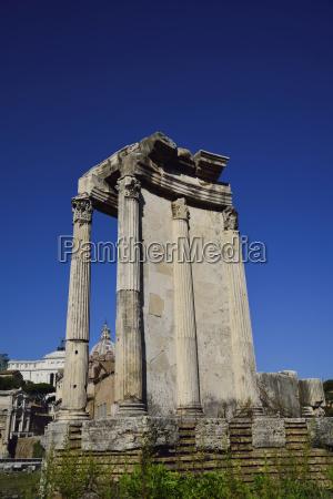 roman forum against clear sky