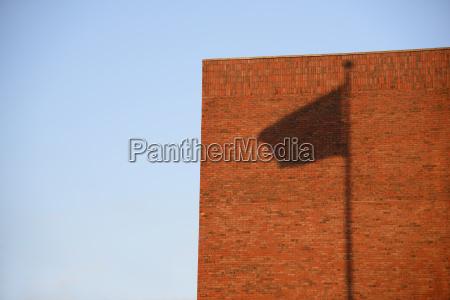 shadow of flag on wall