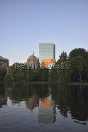 copley square reflecting in boston public