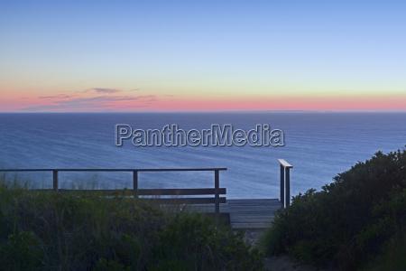 view of sea at dusk