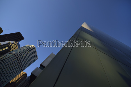 low angle view of financial district