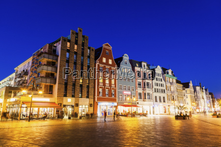architecture of old town in rostock