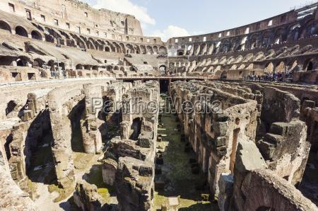 ruins of coliseum amphitheater