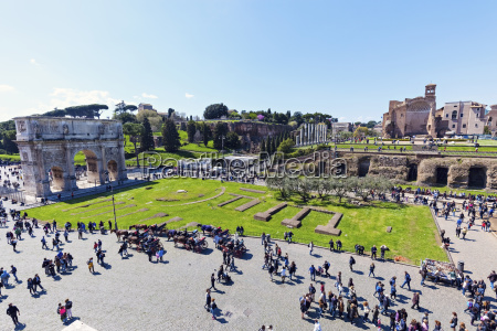ruins of arch of constantine under