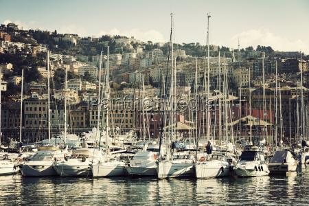 yachts in genoa harbor