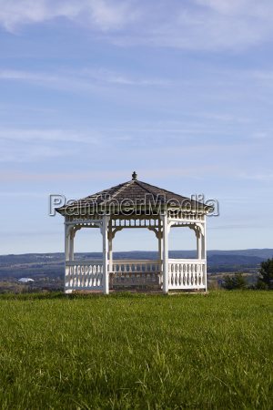 gazebo in field of grass