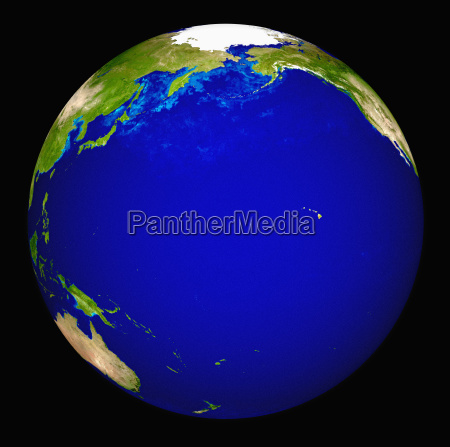 digitally generated image of planet earth