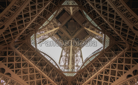 architectural detail of the eiffel tower