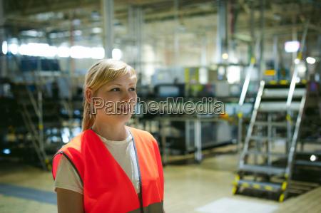 portrait of a female employee in