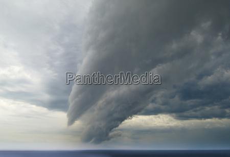 storm cloud over sea