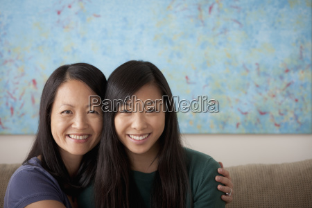 portrait of mother and adult daughter
