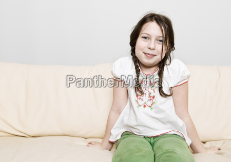 portrait of girl 8 9 sitting