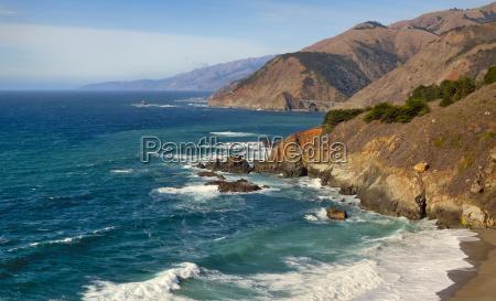 usa california big sur coastline